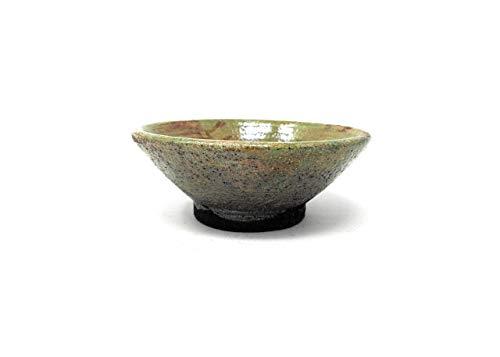 Japanese Tea Bowl Ceramic Raku 4.25