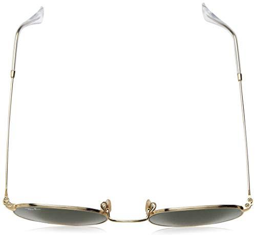 Piatta Green 50 Sole Occhiali arista Verde Cristallo 001 Rotondi Ray ban In crystal Lente Rb3447n Da Oro 4w1aXUqH