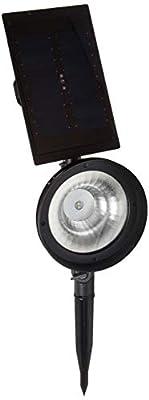 DURACELL SS8C-P5-BKT-1 Solar Textured Black Outdoor Integrated LED Landscape Spot Light
