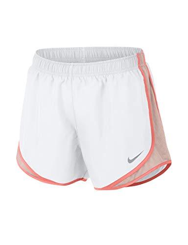 (NIKE Womens Running Fitness Shorts (White/Crimson Tint, Small))