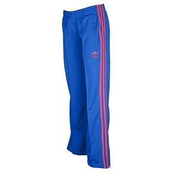 Adidas Firebird Women`s Track Pants - Blue Bird / Blaze Pink (Medium)