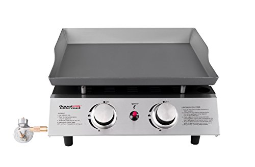 Portable Griddle (Royal Gourmet Portable 2 Burner Propane Gas Grill Griddle Pd1201)
