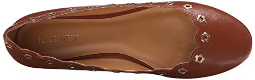 Nine West Mujeres Mintchip Cuero Ballet Plano Oscuro Natural