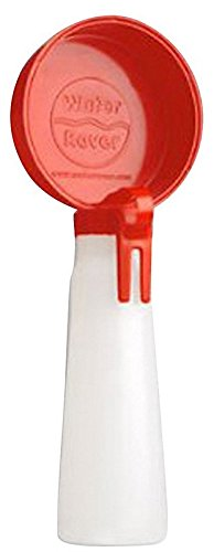 Portable Waterer (Water Rover Smaller 3-Inch Bowl and 8-Ounce Bottle, Red)