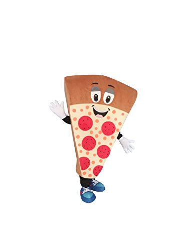 Sinoocean Pizza Adult Mascot Costume Cosplay Fancy Dress Outfit