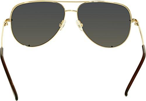 Quay Women's Quay x Desi Perkins High Key Sunglasses, Gold/Gold Mirror, One Size