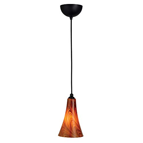 Design House 516807 Carson 1 Light Art Glass Pendant, Oil Rubbed Bronze
