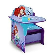 Beau Disney Little Mermaid ARIEL Chair Desk With Storage Bin By Delta Childrens  By Delta Children