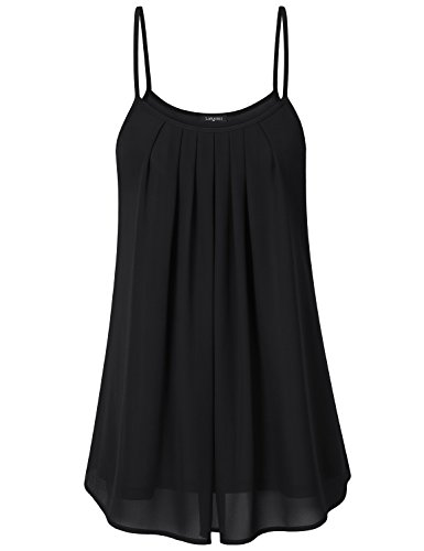 laksmi-womens-summer-casual-front-pleat-cool-tank-dress-xx-large-black