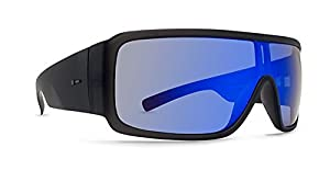 Dot Dash Chalube Adult Sunglasses, Charcoal Satin/Blue Chrome