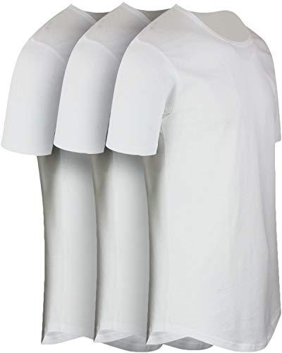 ShirtBANC Mens Hipster Hip Hop Long Drop Tail T Shirts (White 3 Pack, M) (La La La La La Hip Hop)