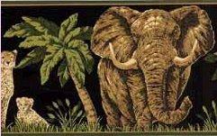 (Wallpaper Border - Dark Moss Jungle Animals Wallpaper Border)