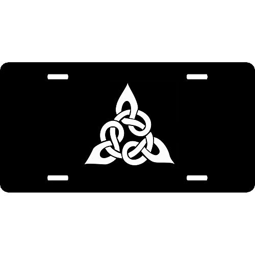 URCustomPro Triangular Celtic Cross Knot Popular License Plates Cover Humor Funny, 4 Holes Auto Car Tag Sign - Aluminum Metal for Front of Car, 12