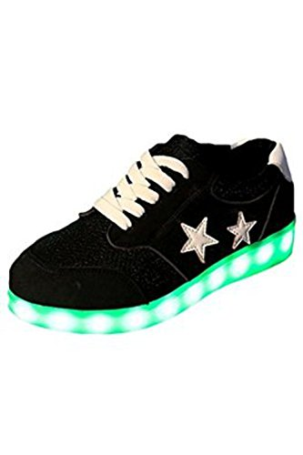 (Presente:pequeña toalla)JUNGLEST Mujer LED Zapatos Deportivos USB Gris