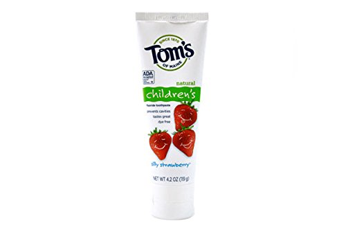 Tom's of Maine【トムズオブメイン 子供用歯磨き粉 シリーストロベリー】 【並行輸入品】