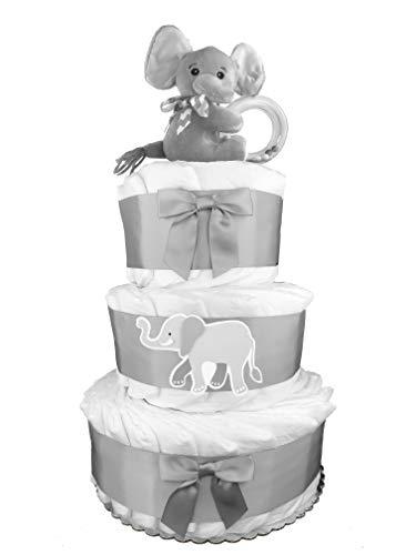 Elephant 3-Tier Diaper Cake - Gender Neutral Baby