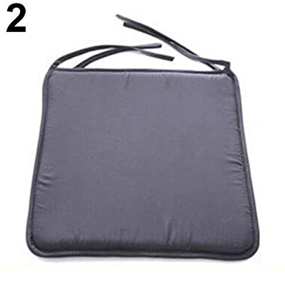 Maserfaliw Seat Cushion101051_WLRemovable Seat Pad Dining Garden Outdoor Patio Pillow Solid Tie On Chair Cushion - Dark Grey ¡ï Soft Removable Chair Seat Pad£¬Essential for Home Life. : Garden & Outdoor