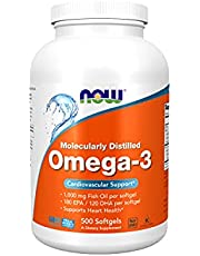 Supplements Omega-3 180 EPA / 120 DHA, Molecularly Distilled, Cardiovascular Support*, 200 Softgels