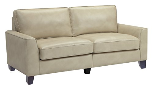 Serta CR46756 RTA Astoria Coated Fabric Sofa, 73″, Cannoli Cream