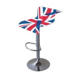 Tabouret et chaise de londres avec le drapeau anglais deco londres - Tabouret de bar en anglais ...
