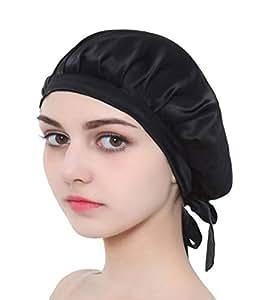 Amazon.com   Silk Sleep Cap for Women   Girls f12e3edf231