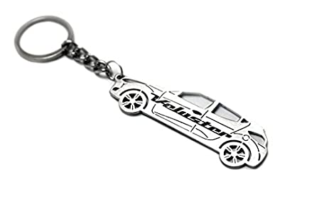 Amazon Com Keychain With Ring For Hyundai Veloster Steel Key