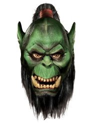 (Deluxe Orc Mask with Beard Costume Accessory)