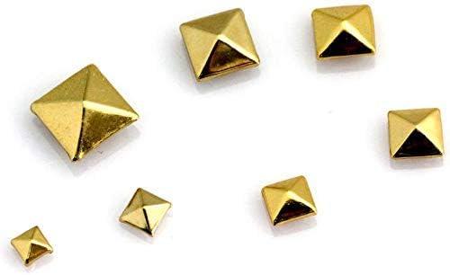 100 Pcs Square Pyramidennieten Pyramiden Nieten Spikes fuer DIY Fertigkeit