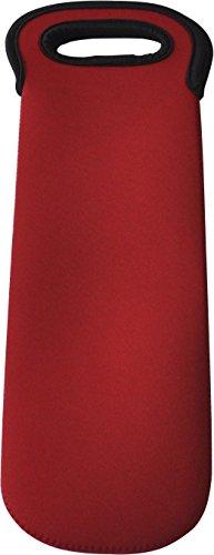 BroilPro Neoprene Wine Tote / Wine Bag, 1-Bottle (Red) (Neoprene Bag Wine)
