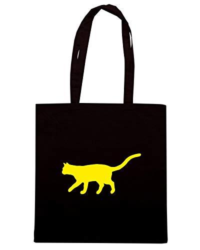 Borsa Shopper Nera FUN0950 CAT CATS ANIMAL ANIMALS 03 89894
