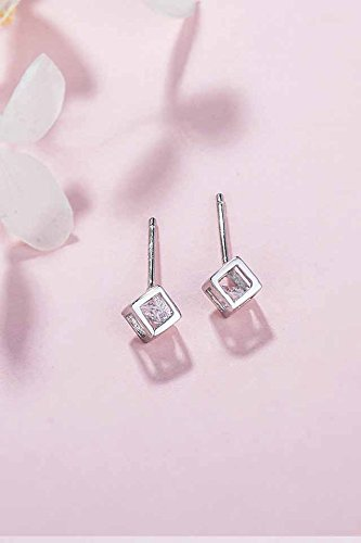 Generic silver _age_time_cube_925_ silver _with_cubic_zirconia_ silver earrings Earring eardrop ear Nail women girl _sweet_little hair Clip,_China,_Japan Korea_wind_ earrings
