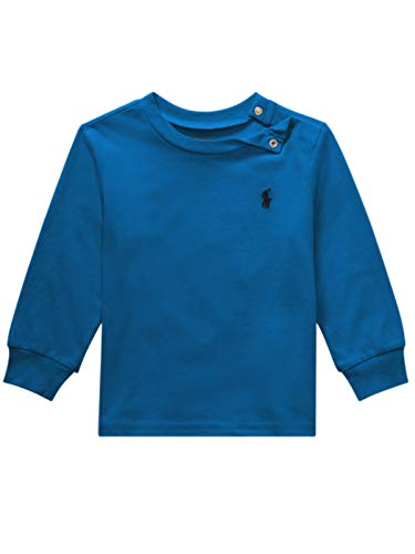 (Polo Ralph Lauren Baby Boy's Long Sleeve Crewneck Tee, Kite Blue (24)