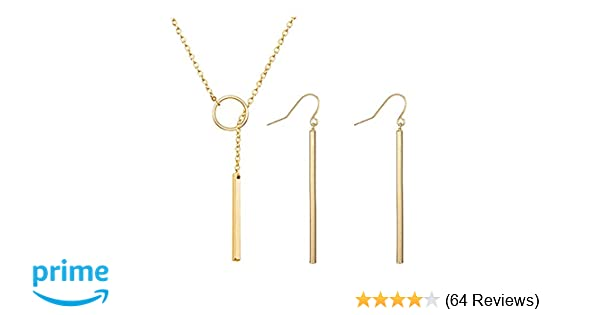 8ef2002df7f Amazon.com: Dcfywl731 Punk Simple Style Gold/Silver Plated Lightning Long  Exaggerated Square Geometric Stick Drop Dangle Earring for Women Jewelry ( Gold): ...