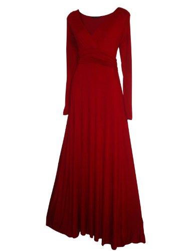 Kleid Schwarz rot Look the for Einfarbig Schwarz Stars Damen Langarm Gr 38 0wXRx6qw