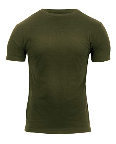 (Rothco Athletic Fit Solid Color Military T-Shirt, S, Olive Drab)