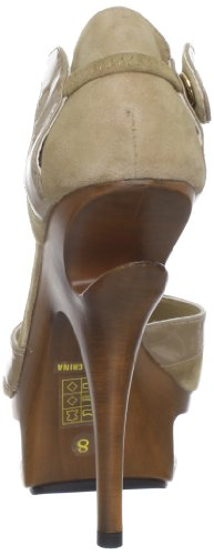 Pleaser Day & Night - Sandalias mujer Blush Suede-Pat Leather