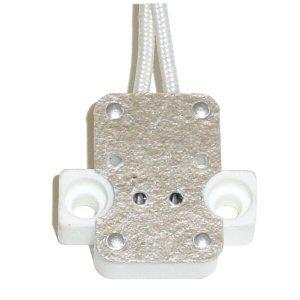 Westinghouse 11107 - 11107 MR16 Ceramic Socket with 5' Leads (PORC/SKT/W-LEADS G5.3 BASE)