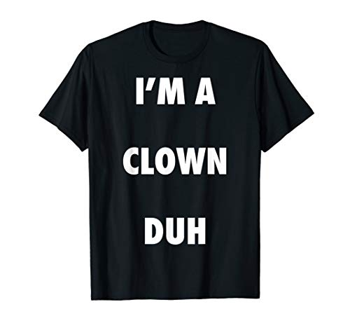 Easy Halloween Clown Costume Shirt for Men Women Kids T-Shirt