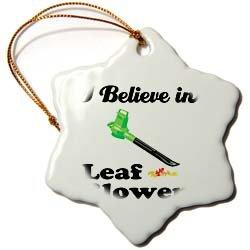 Dooni Designs I Believe In Designs - I Believe In Leaf Blowers - Ornaments