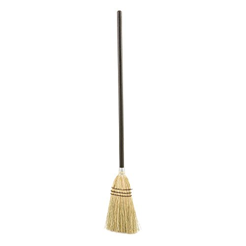 Rubbermaid Commercial Lobby Corn Broom, Wood Handle, Brown -