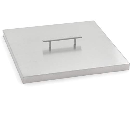 Lakeview Outdoor Designs 15-Inch Stainless Steel Burner Lid - Fits 12-Inch Square Fire Pit Pan