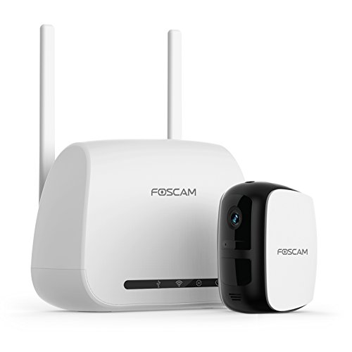 Foscam E1 1080P Full HD Wire-Free Home Security Camera System, 1 WiFi Wireless Rechargeable Battery Powered Outdoor/Indoor Camera, Night Vision, Two-Way Audio, Free Cloud Storage included