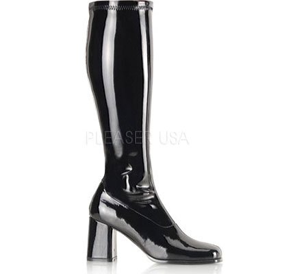 Boots Pat 70s Width Blk Wide Pleaser Gogo Costume Str Retro wYf7n6qT