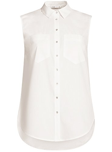 oodji Blanc Basique Coton en 1200n Ultra Top Femme CCxr8Rq