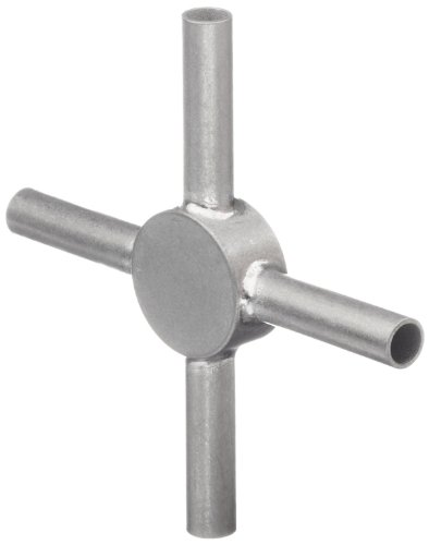 STC-06/4 Stainless Steel Hypodermic Tubing Connector , 6 Gauge, 4-Way (Pack of 10)