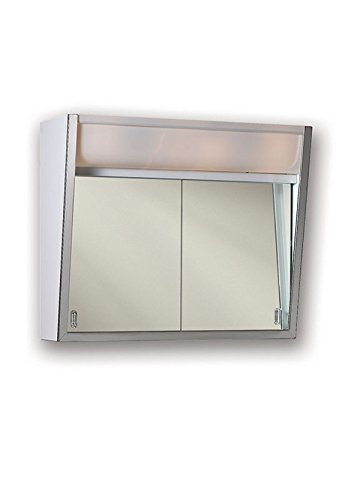 Jensen 323LPX Lighted 2-Sliding Doors Medicine Cabinet, 24