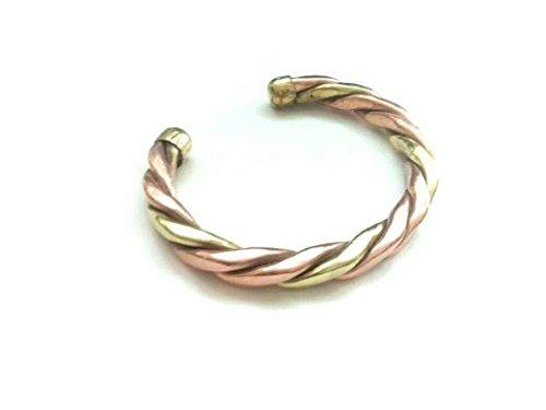 46e8a456e85fe Amazon.com: DevDeep Punjabi Sikh Copper Brass Patti Kada/Bracelet ...