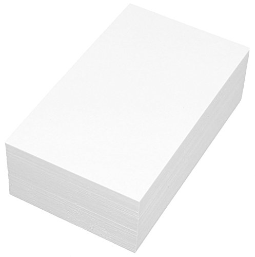 Debra Dale Designs Premium Blank Unruled White 20 Point Card Stock. Extra Thick - Super Heavy 3