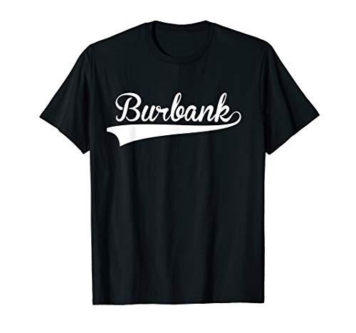 BURBANK Baseball Styled Jersey Tee Shirt Softball