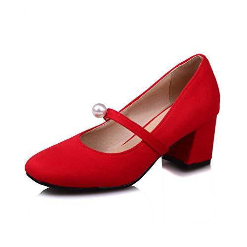 Donna Dgu00469 An Sandali Red Con Zeppa IzTv0wqT